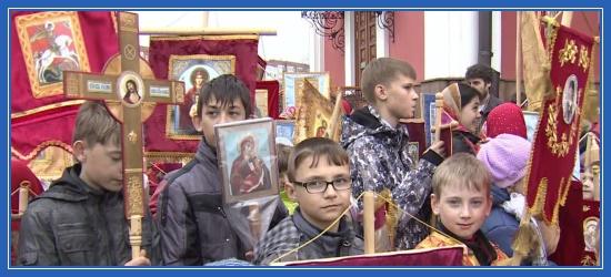 Крестный ход, дети, юные крестоходцы