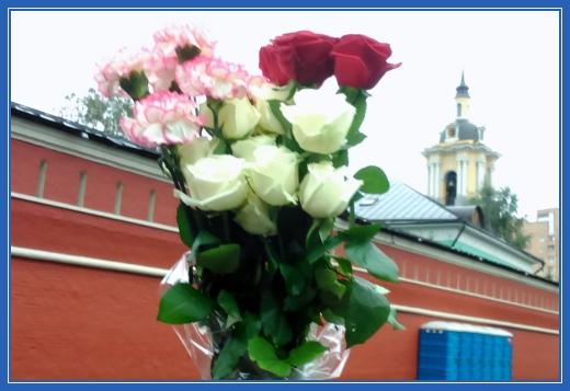Цветы, розы и гвоздики