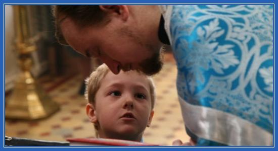 Мальчик, священник, Исповедь, ребенок, храм
