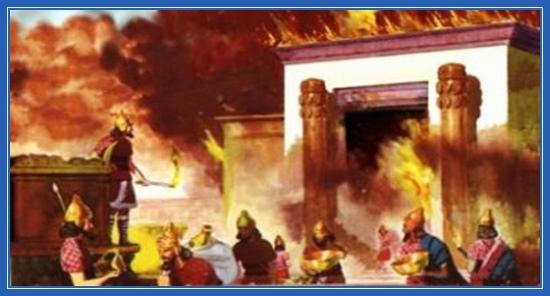 Пожар, Ветхий Завет, воины
