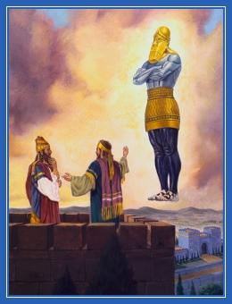 Пророк Даниил разъясняет сон царю Навуходоносору