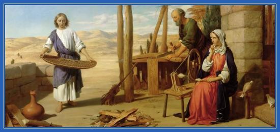 Юный Иисус Христос, плотник, Матерь Божия, Иосиф