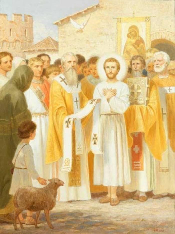 Чудесное избрание во епископа Мир-Ликийских