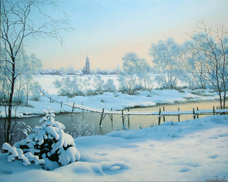 Православный зимний пейзаж