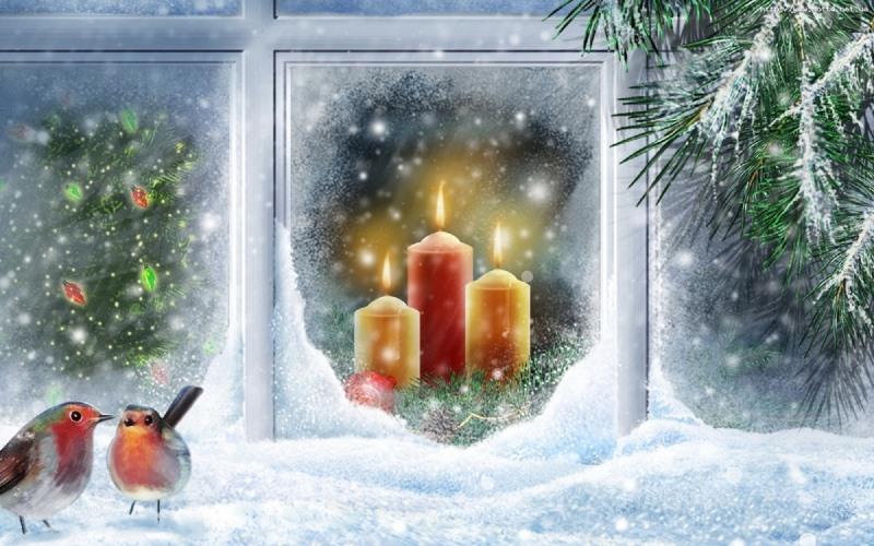 свечи, Рождество Христово