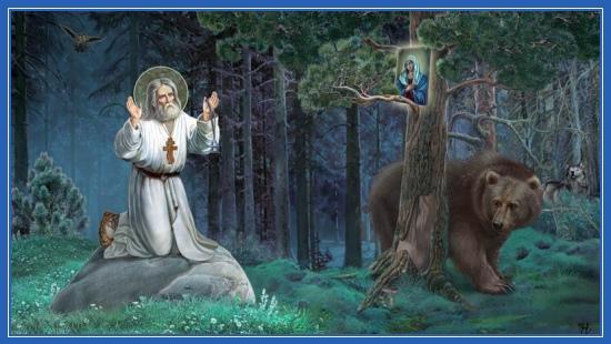 Преподобный Серафим, моление на камне