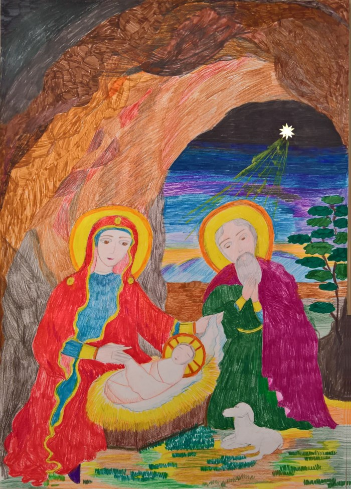 Рождество Христово - Рисунок Кати Романовой