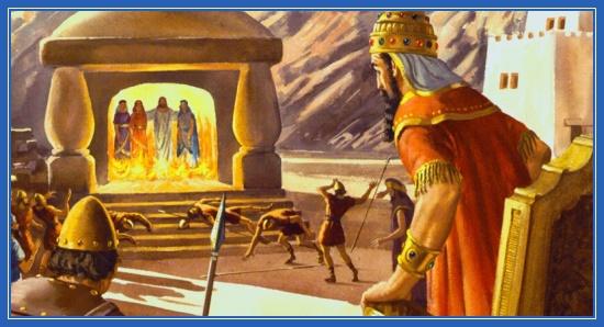 Три отрока в пещи Вавилонской, царь Навуходоносор