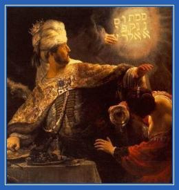 Валтасар, царь Вавилонский, Мене текел фарсин