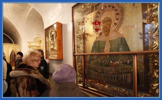 Чудотворная икона блаженной Матроны в Покровском храме