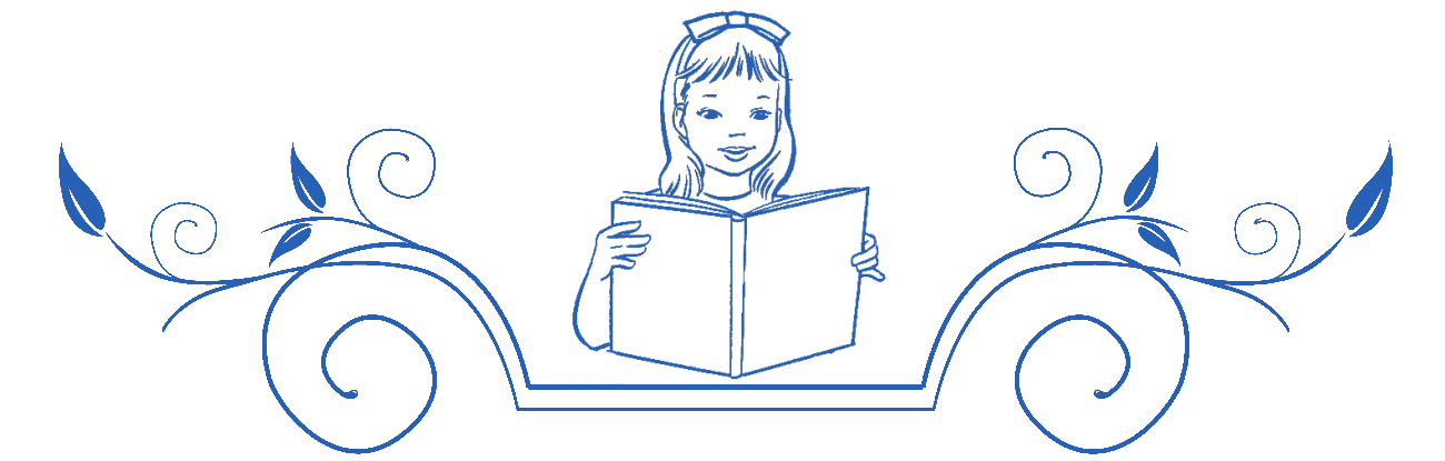 Детское чтение, девочка читает, книга