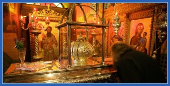 Святитель Григорий Палама. Рака (гробница) с его честными мощами