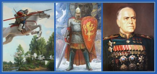 Русские витязи и воины