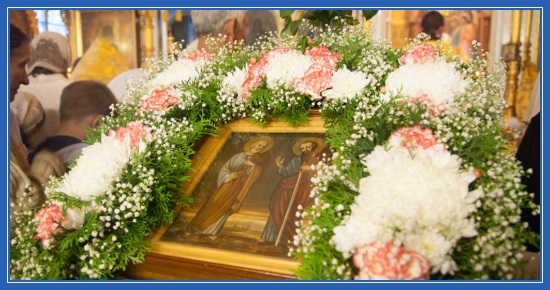 Апостолы Петр и Павел, икона в храме