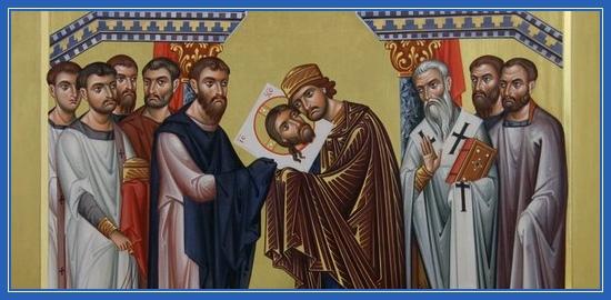 Перенесение Нерукотворного Образа Христа Спасителя из Едессы в Константинополь