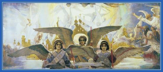 Преддверие Рая. Васнецов. Ангелы