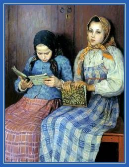 Школьницы, картина, Худжник Богданов-Бельский