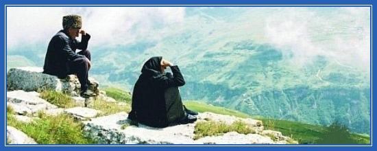 Горцы, живущие в горах, жители гор