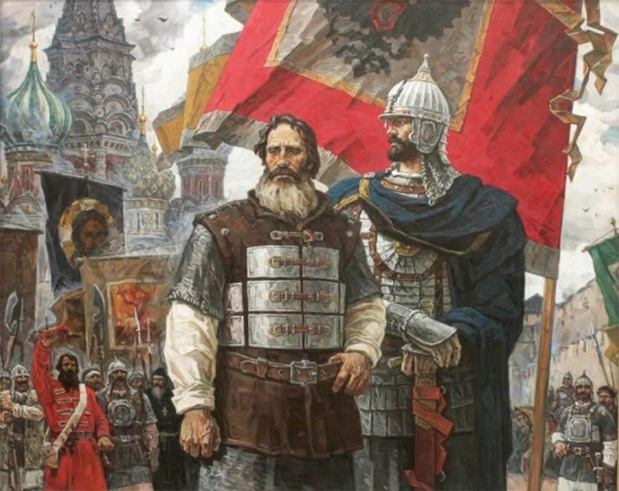 Гражданин Минин и князь Пожарский с иконой Казанской Божией Матери 3