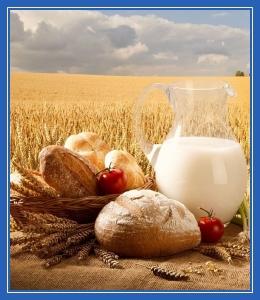 Хлеб, рожь, каравай, молоко