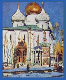 Храм, картина, Русь