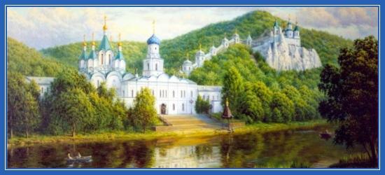 Русь, монастырь, река,