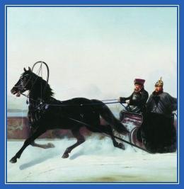Сани, Конь, лошадь, кучер