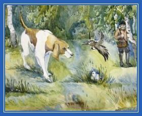 Собака и воробей