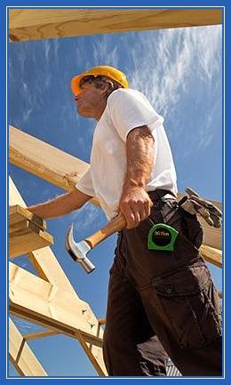 Строитель, стройка, плотник, дом