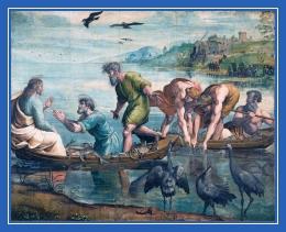 Апостолы, ученики, рыбная ловля