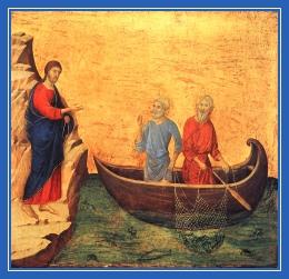 Иисус Христос, апостол Петр и Андрей