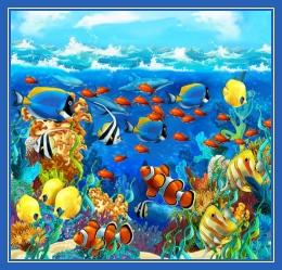 Коралловый риф, рисунок