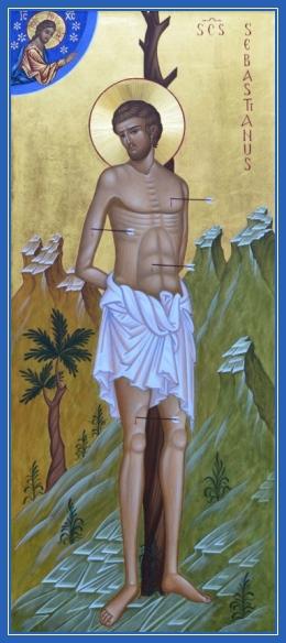 Мученик Севастиан Медиоланский, икона