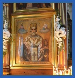 Святитель Николай, киот в храме
