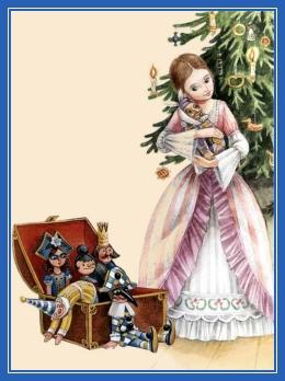 Девочка у елки, подарки