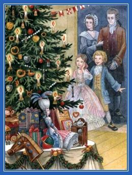 Елка, дети, подарки, дома