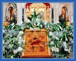 Икона Рождества Христова в храме