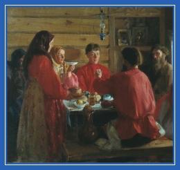 Крестьяне, за столом