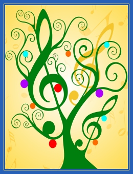 Песня, ноты, новогодняя, Рождественская