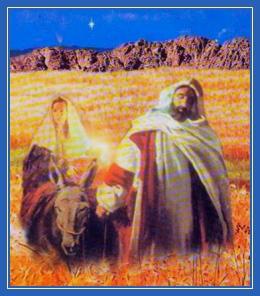 Праведный Иосия и Дева Мария идут в Вифлеем