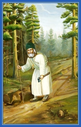 Преподобный Серафим Саровский, лес