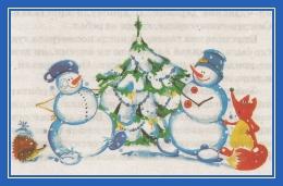 Снеговики и елочка