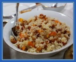 Сочиво, Сочельник, кутья, рисовая с изюмом