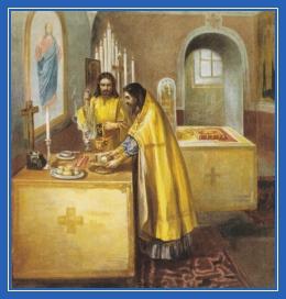Совершение Проскомидии, Литургия, храм