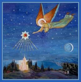 Вифлеемская звезда, ангел в небе