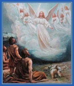 Явление, Ангел и пастухи. Рождество Христово