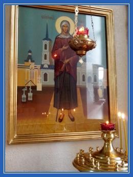 Блаженная Ксения, икона в храме