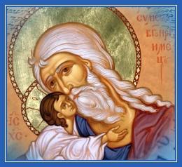 Праведный Симеон Богоприимец, и Богомладенец