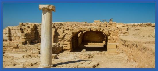 Развалины языческого храма, руины, Кесария