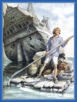 Робинзон Крузо, крушение, корабль